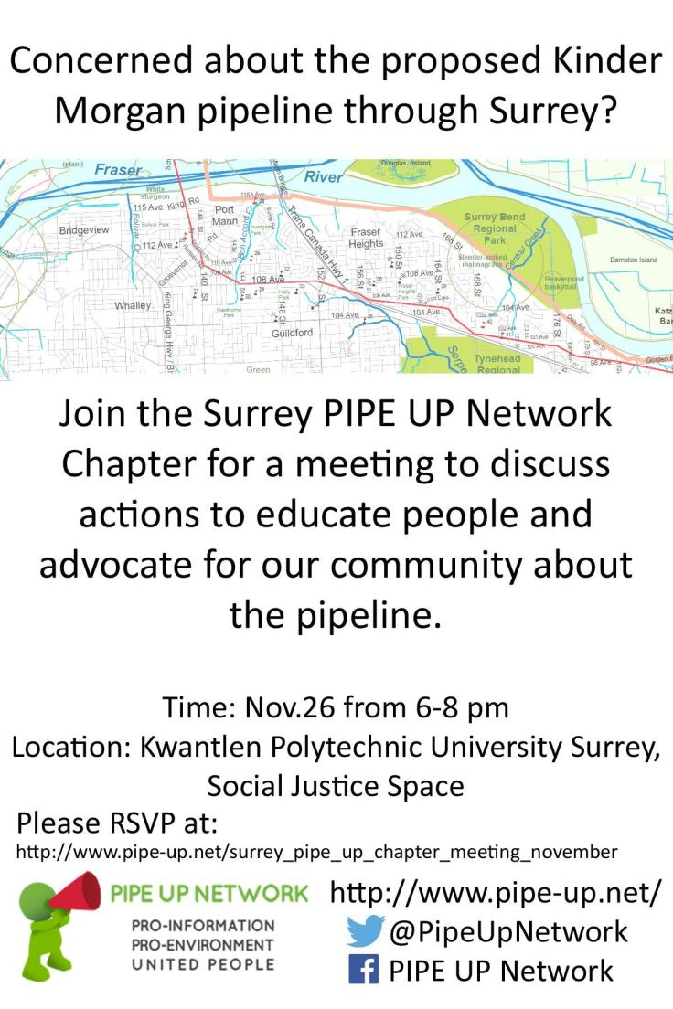 Surrey PIPE UP Nov.26 Invitation