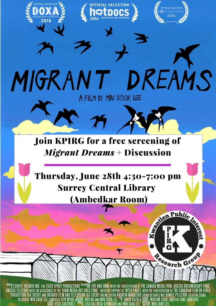Migrant Dreams Screening Poster